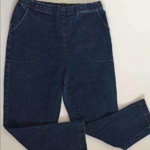 Croft & Borrow Womens Pull Up Jeans 12 Short